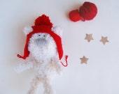 Bear Stuffed Toy, crochet animal, Plush Teddy Bear, Soft Sculpture, Crochet Bear Doll