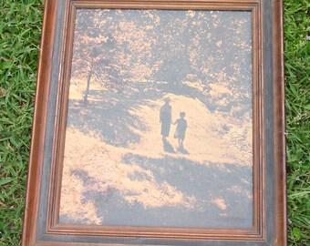 Vintage Framed J.A. Warner Print - Folk Art