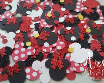"""1"""" Minnie Mouse Head Confetti"""