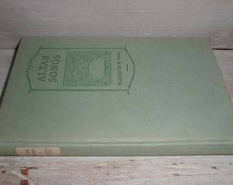 Altar Songs By Elizabeth Ross *Spiritual Poems* Lovely Book For Display