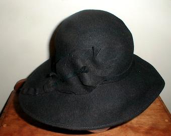 Fabulous Frank Olive Black On Black Wool Hat *Classic Style*