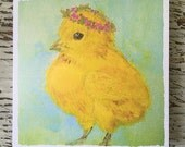 Little Chick Greeting Card/FREE SHIPPING