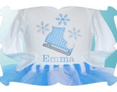 PERSONALIZED Ice SKATING design... many options, onesies, short and long t-shirts, sweatshirts...  Youth sizes also available