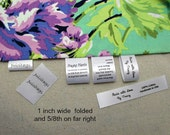 100 +15 Free Custom Satin Labels - Folded  ~