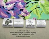 80 Custom Satin Labels - Folded  ~