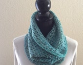 Tidal Multi Cowl Infinity Neck Warmer Circle Snood Soft Scarf Cluster Crochet