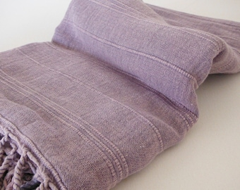 Turkish Towel Peshtemal towel Cotton Peshtemal Stone washed Towel in Lilac color