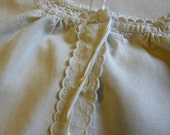 Antique French Pure Linen Nightgown,Nightdress, Chemise,  Vintage,  Unworn.