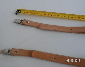 Handmade Vegetabile tanned leather Suspenders