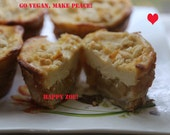 Vegan  Delicious Lemon Apple Baby Cheesecakes, animal free cruelty,no eggs,no dairy.
