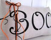 50% CLEARANCE SALE Halloween pillow, boo pillow, fall pillow, ghosts, boo, fall, halloween, decorative pillows, rustic halloween, rustic
