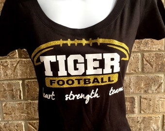 Tigers Football Shirt- can be customized to any team and any colors