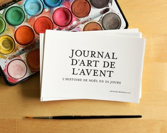 Journal d'Art de L'Avent 4x6 printable -  (Advent Art Journal in French) Noël, Christmas Nativity DIY - undated, digital file