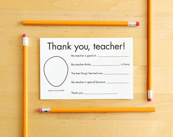 Invaluable image throughout thank you cards for teachers printable