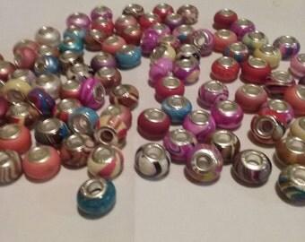 Destash 2 lbs variety large hole beads