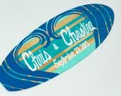 Surfboard Sign, Personalized 18 inch Summer Wedding Surf Board Decor, Beach Wedding Signs, Surfer Decor, Surfer Gift, Beach Wedding Decor