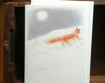 Upon a Moonlit Night - A-2 Greeting Card