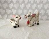 Vintage Spotted Deer Sugar and Creamer Set