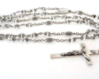 Catholic Rosary Sterling Center Silver Beads Vintage