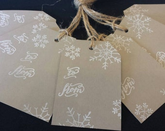 Craft Snowflake Tags - set of 7