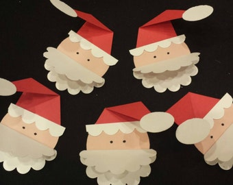 Lift the Flap Santa tags - set of 5