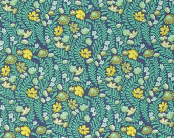 Eden by Tula Pink for Free Spirit - Wildflower - Sapphire - FQ - Fat Quarter - Cotton Quilt Fabric 516