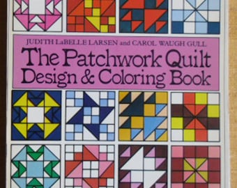 Vintage Sewing Book - The Patchwork Quilt, Design & Coloring Book, Butterick Quilting Reference