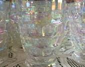 Federal Glass Yorktown Thumbprint Tumblers Iridescent 6 ounce
