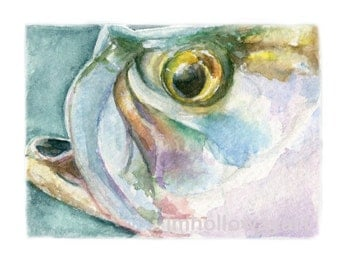 Watercolor Tarpon, Tarpon Print, Tarpon Art