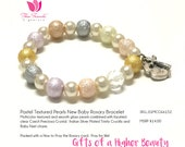New Baby Pastel Glass Pearls Rosary Bracelet