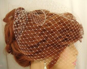 Wedding Birdcage Veil, 12 Inch Veil, Soft Edge Veil, Bridal Veil