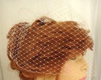 Wedding Birdcage Veil, 12 Inch Veil, Bridal Veil, REX15-2013