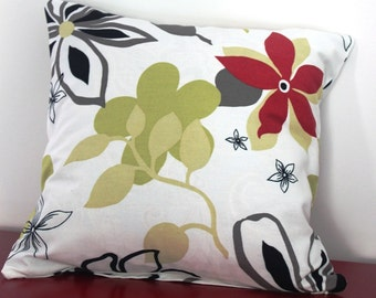 Set of two -  Flowers Pillow Cover -   16x16 pillow covers