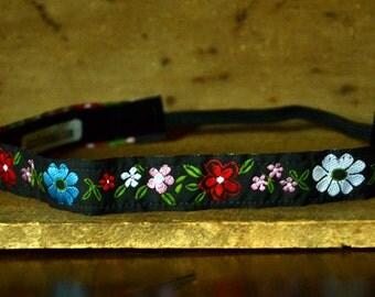 "Dazzlebands No Slip Headband Bright Flowers 5/8"""