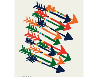 Arrows Original Art Print