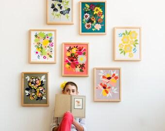 Flower Art, Daisy Art, Living Room Art