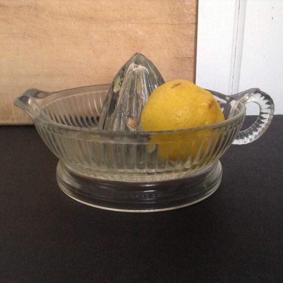 Glass Citrus Juicer Electric ~ Clear glass juicer reamer large citrus