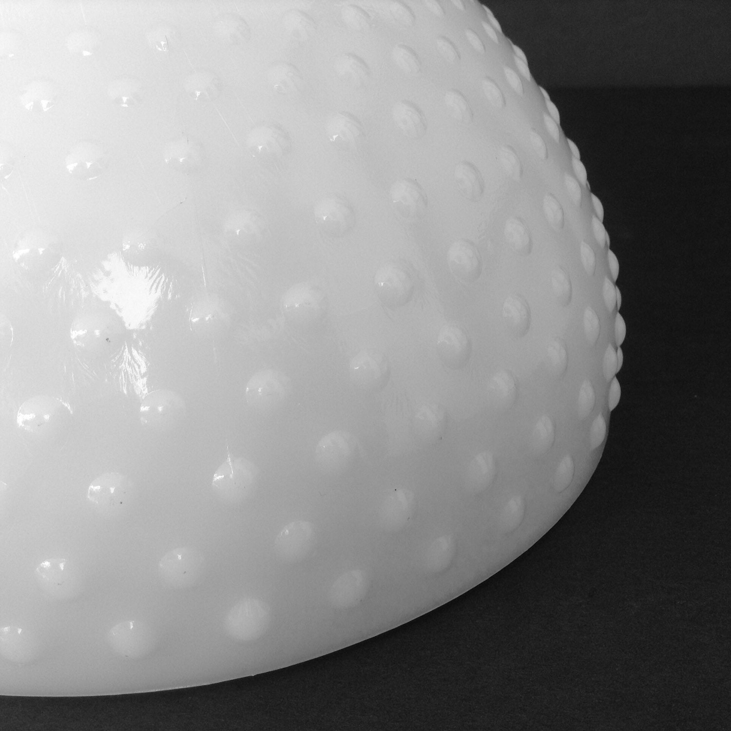 8 Inch Hobnail Milk Glass Globe Replacement Shade For Oil Or