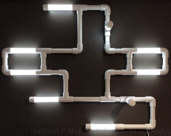 Wall Led lights Industrial Sculpture - Terminal Nine -