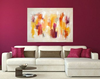 """Abstract Paintings - Modern Art, Acrylic, Original Abstract on Canvas by Ora Birenbaum 36x48x1.5"""" Titled: Warmth of the Sun"""