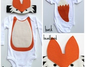 Fox Baby Costume, Woodland Baby Costume, Forest Baby Costume, Grey Fox Costume