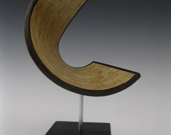 Modern Abstract wood art sculpture