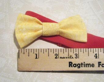 Baby headband, girl headband, pink with yellow bow