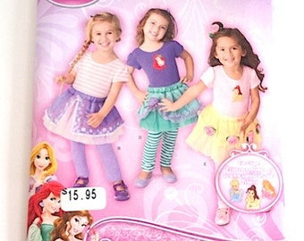New Disney Pattern 1432A, Tutu. Top and Leggings, Size 1/2 to 4