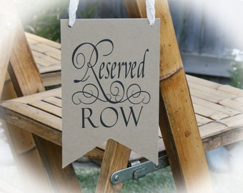 NEW! Reserved Row sign- Wedding Reserved Sign- Wedding Signs-3 Colors Available