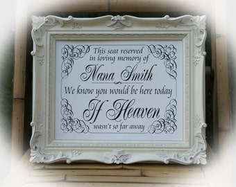In loving Memory sign -NOT a printable- 8 x 10 Wedding Sign-Personalized Remembrance Sign-Vintage Styl-We know you would be here today