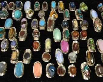 Alpaca silver adjustable rings. Peruvian. Boho Bohemian Rings
