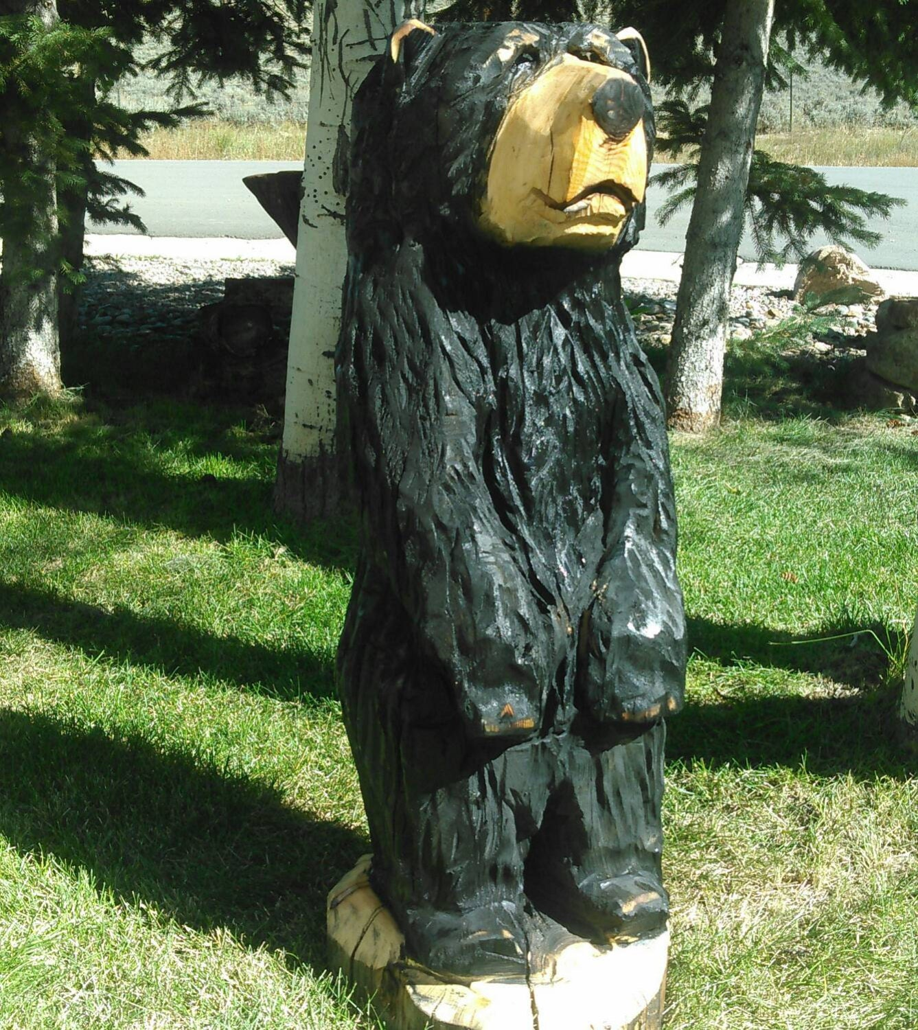 Chainsaw carving carved bear carvings by