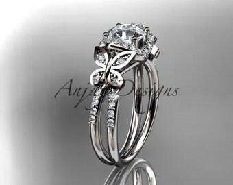 platinum diamond butterfly wedding ring,engagement ring ADLR141