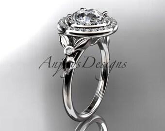 platinum diamond floral wedding ring,engagement ring ADLR133